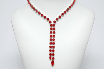 Collier Y-Form in Rot (4452)